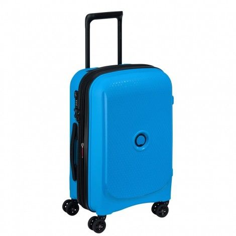 Delsey Belmont Plus maleta azul maleta rígida maleta spinner