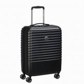 Delsey Caumartin Plus maleta negra maleta rígida maleta spinner