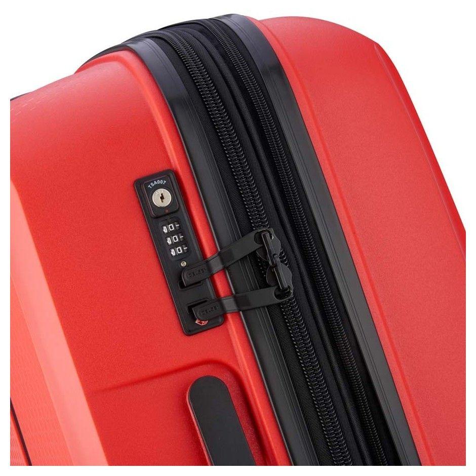 Delsey Belmont Plus maleta naranja maleta rígida maleta spinner