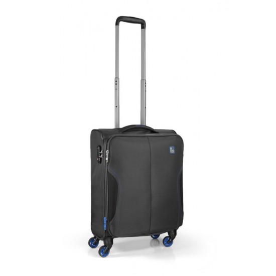 Roncato Jet maleta negra maleta blanda maleta spinner