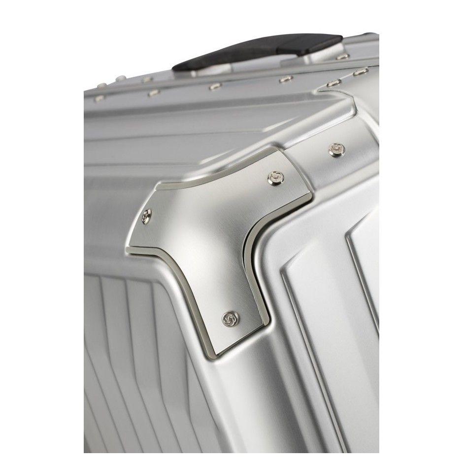 Samsonite Lite-Box Alu maleta gris maleta rígida maleta spinner